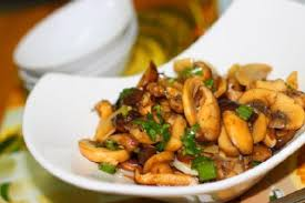 Stir Fried Mushrooms.